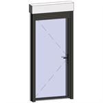 door window opening inside leaf with lock with shutter