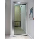 porte vitrée coupe-feu aluminium - 1 vantail