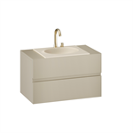ARMANI - ISLAND 1000 mm wall-hung furniture for countertop washbasin and deck-mounted basin mixer