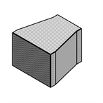 CLIMAVER Rectangular Reducer to one lateral face in U