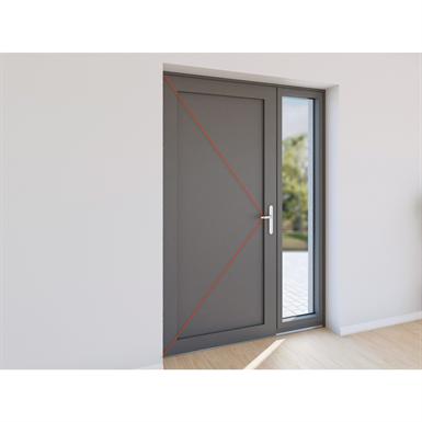 porte extérieure à frappe 2 vantaux - tierce aluminium