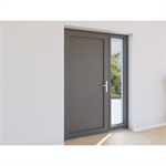 double entrance door aluminium