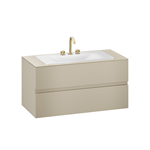 ARMANI - BAIA 1200 mm wall-hung furniture for countertop washbasin and deck-mounted basin mixer