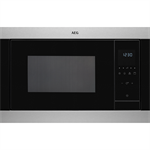 AEG BI Microwave Oven Stainless steel with antifingerprint 600 380