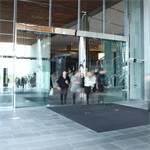 automatic sliding door, al401 biparting wall-hosted