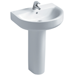 concept arc 60cm washbasin, pedestal or furniture 1 taphole