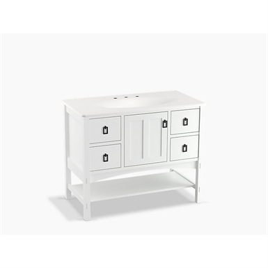 "marabou® 42"" bathroom vanity cabinet with 1 door and 4 drawers"