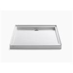 "groove® 42"" x 42"" single threshold rear center drain shower base"