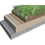 Warm Extensive Green Roofing System with Sarnafil® TG-66 (single ply membrane)