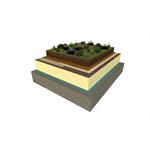 système de végétalisation extensive avec sarnafil tg-66 (membrane synthétique)
