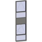 vertical strip windows - 5 zones