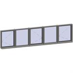 horizontal strip windows - 5 zones
