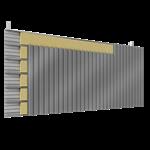 doppelte aussenfassade aus stahl verlegung v vollständige platten ohne abstandhalter mit 2 dämmflächen