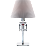 torch lamp white lampshade