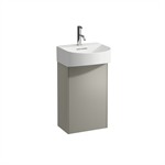 SONAR Vanity unit, 1 door, right hinged, matching small washbasin 815341