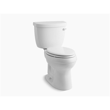 k-3609-ra-0 cimarron® comfort height® two-piece elongated 1.28 gpf toilet with aquapiston® flush technology and right-hand trip lever
