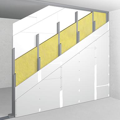 w50+50/155; ei60; 62db; austria; double metal stud frame, double-layer cladding
