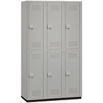 15-42000 Series Heavy Duty Plastic Lockers - Double Tier - 3 Wide