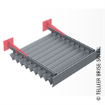 sun screen with clip-on blades, horizontal installation with blades underneath - canicule range