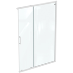 connect 2 corner / entry 140 , door without handle,  white frame and clear glass