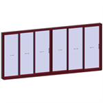 sliding window 3 rails 6 leaves