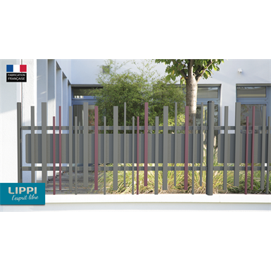 Aligned top and bottom STEM® WALL fence