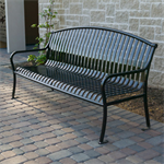 CityView Vertical Strap Arch Backed Benches