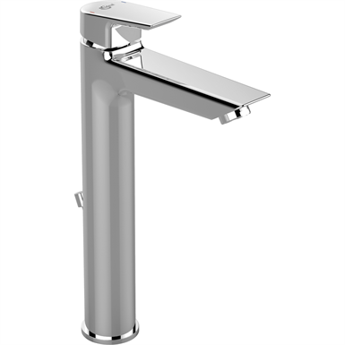 tesi tall single lever one hole basin mixer with pop-up waste