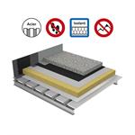 systèmes pour toitures terrasses inaccessibles protection dure isolation fh sur bac acier plein