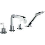 AXOR Citterio 4-hole rim mounted bath mixer with lever handles and escutcheons 39446000