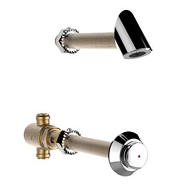 PRESTO kit douche P512 S eau prémitigée antivandalisme Traversée de cloison 120mm LVL0