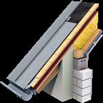 angled standing seam roof (530 mm, prepatina blue-grey)
