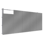 fassadenplatte sand verkleidung stahl steg lr verlegung v verdeckte befestigungen