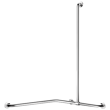 5481p two wall stainless steel shower grab bar with sliding vertical bar