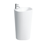 PALOMBA COLLECTION Floorstanding washbasin with wall connection 520 mm