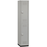 15-42000 Series Heavy Duty Plastic Lockers - Double Tier - 1 Wide