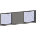 horizontal strip windows - 3 zones