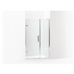 """composed® frameless pivot shower door, 71-3/4"""" h x 46 - 46-3/4"""" w, with 3/8"""" thick crystal clear glass"""