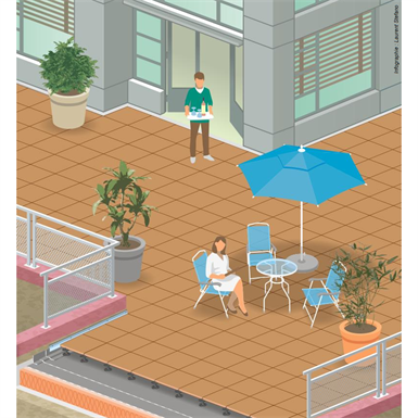 flat roofs accessible to pedestrians with a concrete structural member in a low-land climate - csfe - generic objects waterproofing