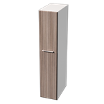 MIDO TALL UNIT 172,8X35X60 CM MATT WHITE/HAVANNA