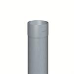 regenfallrohr rund (nenngröße 100, länge 2000 mm, prepatina blaugrau)