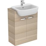 p_tempo 55cm semi-countertop washbasin, 1 taphole