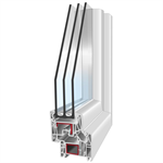 PVC301 - 1-leaf Tilt-And-Turn Window with side fixed pane and compact