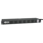 1U Rack-Mount Power Strip, 120V, 15A, 5-15P, 12 Outlets (Right-Angled Widely Spaced), 15-ft. Cord
