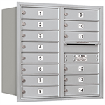 3700 Series Recessed Mounted 4C Horizontal Mailboxes - Rear Loading - 8 Door High Units