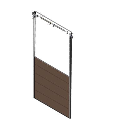 Sectional overhead door 601 - vertical lift - 80mm panels