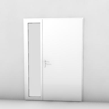 porte extérieure à frappe 2 vantaux - tierce