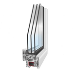 PVCi30 - 1-leaf hidden-profile Tilt-And-Turn Window with compact