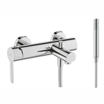 Balance Single lever bath/shower mixer. With shower set.