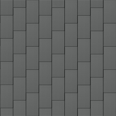 flat-lock tile roof (600 mm x 1500 mm, vertical, prepatina graphite-grey)